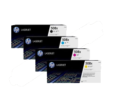 ~Brand New Original HP 508X Laser Toner Cartridge Set Black Cyan Yellow Magenta High Yield Set