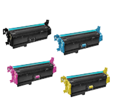 HP 508X Laser Toner Cartridge Set Black Cyan Yellow Magenta High Yield Set
