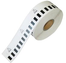 BROTHER DK-2210 Die-Cut Continuous Length Paper Tape Black on White
