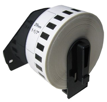 BROTHER DK-2210 Die-Cut Continuous Length Paper Tape Black on White WITH CARTRIDGE