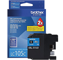 ~Brand New Original BROTHER LC105C (XXL) INK / INKJET Cartridge Super High Yield Cyan