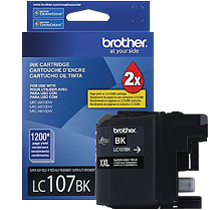 ~Brand New Original BROTHER LC107BK (XXL) INK / INKJET Cartridge Super High Yield Black