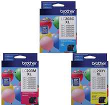 ~Brand New Original BROTHER INK LC2033PKS INK / INKJET 3 Pack Color Set Cyan Yellow Magenta