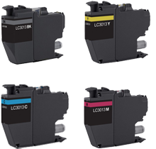BROTHER LC3013 High Yield INK / INKJET Cartridge Set Black Cyan Magenta Yellow