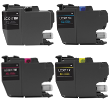 BROTHER LC3017 High Yield INK / INKJET Cartridge Set Black Cyan Magenta Yellow