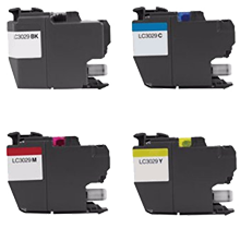 BROTHER LC3029 Extra High Yield INK / INKJET Cartridge Set Black Cyan Magenta Yellow