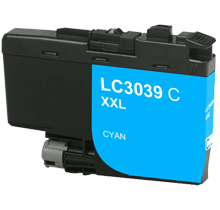 Brother LC3039C Cyan Ink Cartridge Ultra High Yield