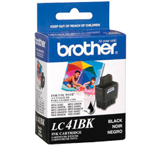 ~Brand New Original BROTHER LC41BK INK / INKJET Cartridge Black