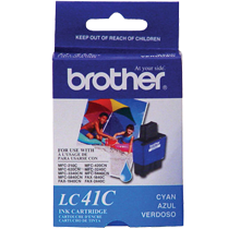 ~Brand New Original BROTHER LC41C INK / INKJET Cartridge Cyan