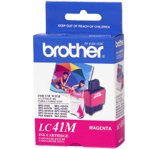 ~Brand New Original BROTHER LC41M INK / INKJET Cartridge Magenta