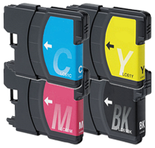 BROTHER LC61 INK / INKJET Cartridge Set Black Cyan Yellow Magenta