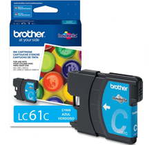 ~Brand New Original BROTHER LC61C INK / INKJET Cartridge Cyan
