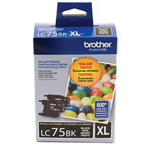 ~Brand New Original BROTHER LC75BKS High Yield INK / INKJET Cartridge Black 2-PACK