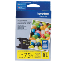 ~Brand New Original BROTHER LC75YS High Yield INK / INKJET Cartridge Yellow