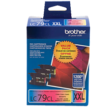~Brand New Original BROTHER LC79CL Extra High Yield COLOR INK / INKJET Cartridge Set Cyan Yellow Magenta