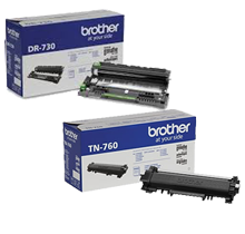 ~BRAND NEW ORIGINAL BROTHER DR730 / TN760 HIGH YIELD LASER TONER CARTRIDGE DRUM UNIT COMBO PACK