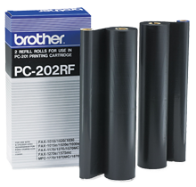 ~Brand New Original Brother PC-202RF FILM ROLLS BOX OF 2