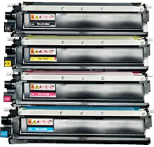 BROTHER TN210 Laser Toner Cartridge Set Black Cyan Yellow Magenta