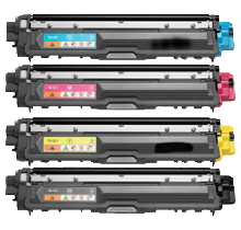 BROTHER TN221 Laser Toner Cartridge Set Black Cyan Magenta Yellow