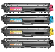 BROTHER TN225 Laser Toner Cartridge Set High Yield Black Cyan Yellow Magenta