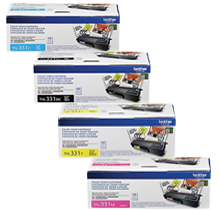 ~Brand New Original BROTHER TN331 Laser Toner Cartridge SET Black Yellow Magenta Cyan