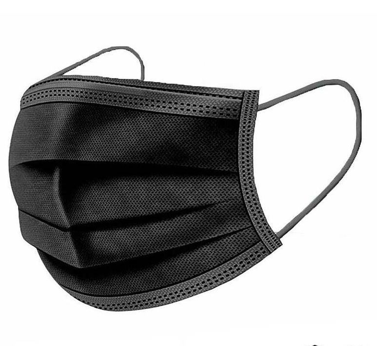 PPE - 3 ply disposable masks - BLACK