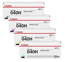 ~Brand New Original CANON 040H High Yield Laser Toner Cartridge Set Black Cyan Magenta Yellow