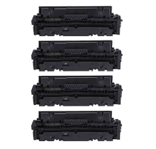 Canon 055H  High Yield Laser Toner Cartridge Set Black Cyan Magenta Yellow No Chip