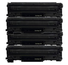 PACK of 4-CANON 128 (3500B001AA) Laser Toner Cartridge