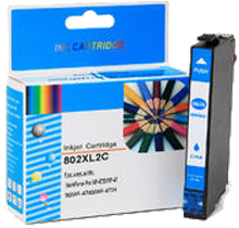 EPSON T802XL220 High Yield INK/INKJET Cartridge Cyan