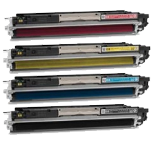MADE IN CANADA HP 126A Laser Toner Cartridge Set Black Cyan Magenta Yellow