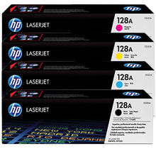~Brand New Original HP 128A Laser Toner Cartridge Set Black Cyan Yellow Magenta