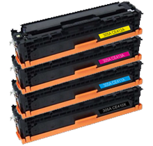 HP 305X Laser Toner Cartridge SET Black Cyan Yellow Magenta