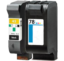 HP 51645A / C6578A (45A / 78A) INK / INKJET Cartridge Combo Pack Black Tri-Color