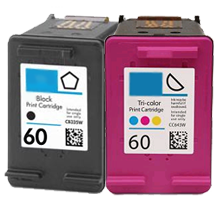 HP CC640WN / CC643WN #60 INK / INKJET Cartridge Combo Pack Black Tri-Color