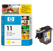 ~Brand New Original HP C4813A (11) INK / INKJET Printhead Yellow