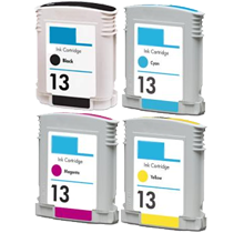 HP 13 INK / INKJET Cartridge Set Black Cyan Magenta Yellow