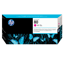 ~Brand New Original HP C4822A (HP 80) Printhead and Printhead Cleaner Magenta