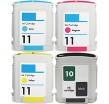 HP 11 INK / INKJET Cartridge Set Black Cyan Yellow Magenta
