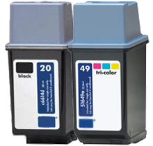HP C6614A / 51649A (20 / 49A) INK / INKJET Cartridge Combo Pack Black Tri-Color