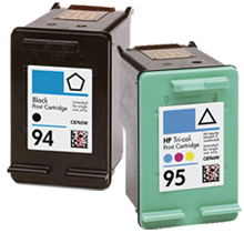 HP C8765WN / C8766WN (94 / 95) INK / INKJET Cartridge Combo Pack Black Tri-Color
