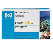 ~Brand New Original HP C9722A Laser Toner Cartridge Yellow