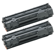 PACK of 2-HP CB435A HP35A Laser Toner Cartridge