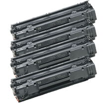 PACK of 4-HP CB435A HP35A Laser Toner Cartridge