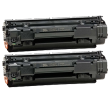 PACK of 2-HP CB436A HP36A Laser Toner Cartridge