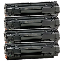PACK of 4-HP CB436A HP36A Laser Toner Cartridge