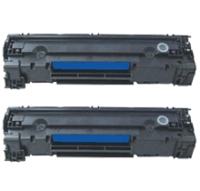 PACK of 2-HP CE285A HP85A Laser Toner Cartridge