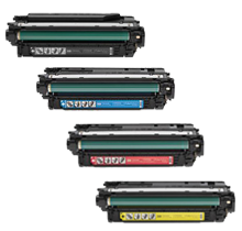HP CM4540 (646X) Laser Toner Cartridge Set Black Cyan Yellow Magenta High Yield