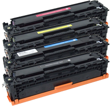 HP CP2025 Laser Toner Cartridge Set Black Cyan Yellow Magenta