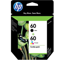 ~Brand New Original HP CC640WN / CC643WN #60 INK / INKJET Cartridge Combo Pack Black Tri-Color